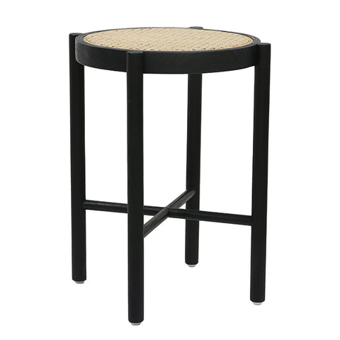 STOOL | Retro Webbing Black by HK Living