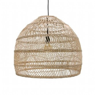 PENDANT | Medium Handwoven Round Wicker Design in Natural by HK Living