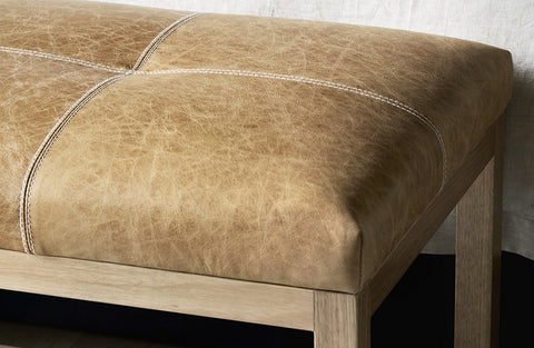 FOOTSTOOL | mercer design in trench leather by heatherly