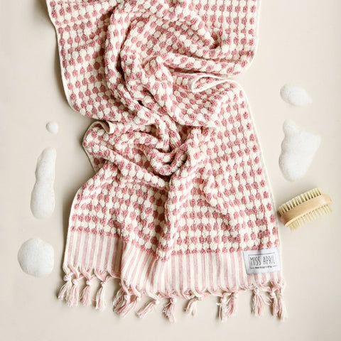 BATH TOWEL | Pom Pom Pink by Miss April Towels