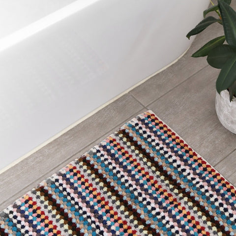BATH MAT | Pom Pom Multicoloured by Miss April Towels
