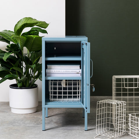 SIDE TABLE | BEDSIDE | shorty design in ocean by mustard made