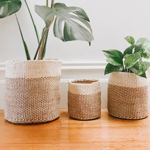 BASKET | Fairtrade Grass Natural by Collective Sol