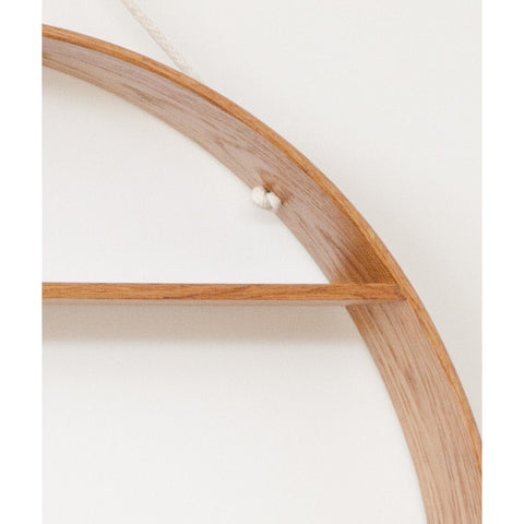 SHELF | circle in oiled finished oak by bride + wolfe