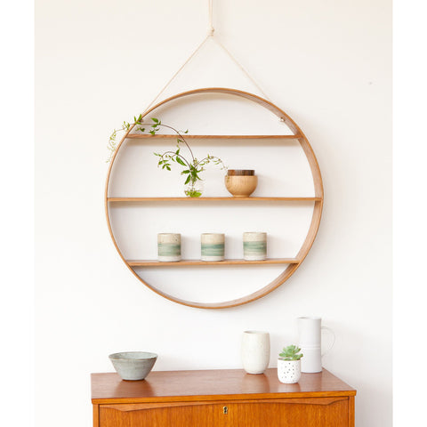 ... SHELF | Circle In Oiled Finished Oak By Bride + Wolfe ... Great Pictures