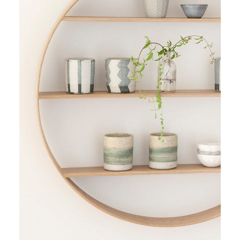 SHELF | circle in natural oak by bride + wolfe