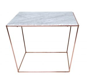 SIDE TABLE | Orlando Copper & White by MRD Home