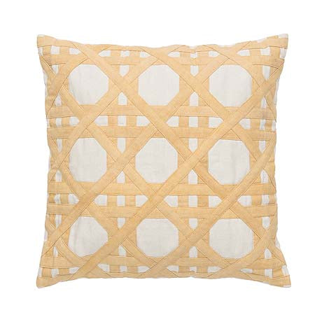 CUSHION | panama design in straw by Amigos de Hoy