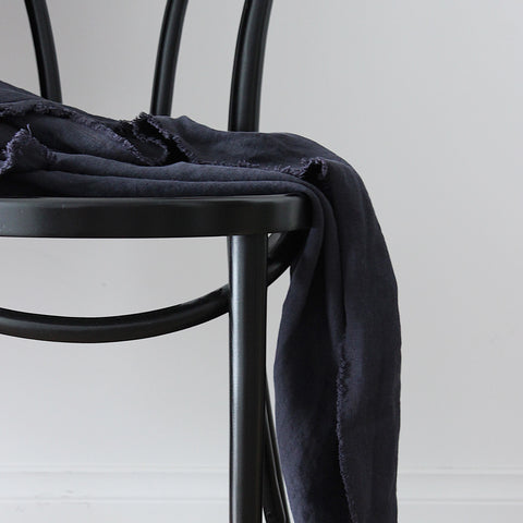 THROW | Pure Linen Oxford Blue by Bedtonic