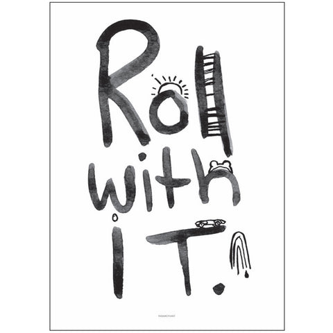 ART PRINT | roll with it by pax + hart