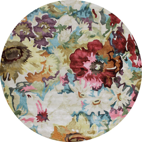 FLOOR RUG | Romance Multi Round by The Rug Collection