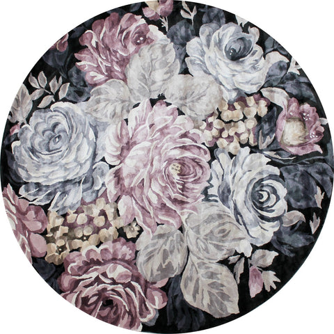 FLOOR RUG | Romance Mystic Round by The Rug Collection
