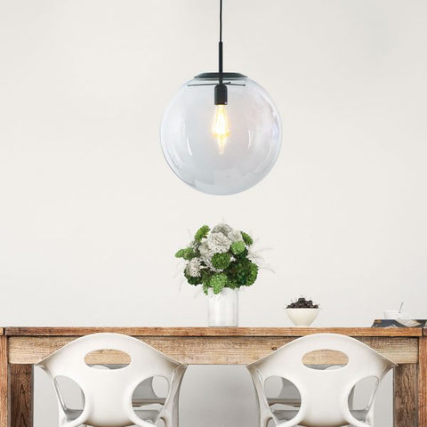 PENDANT LIGHT | Newton Brushed Brass or Black by Oriel Lighting