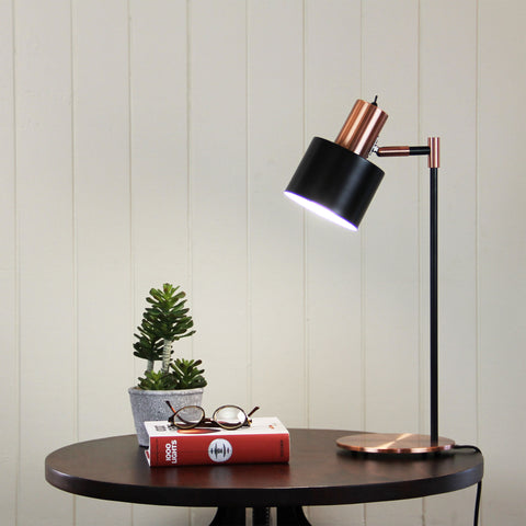 TABLE LAMP | Ari Copper Black by Oriel Lighting