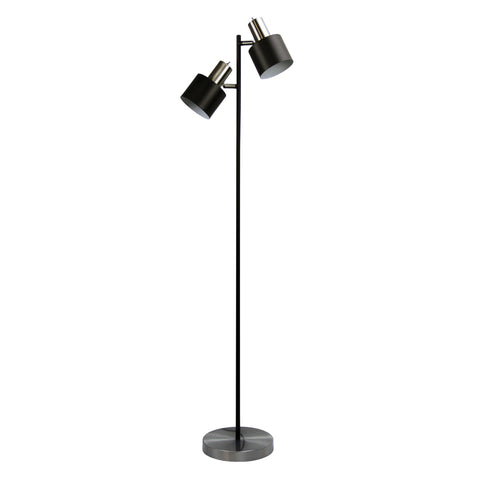 FLOOR LAMP | Ari Twin Chrome by Oriel Lighting