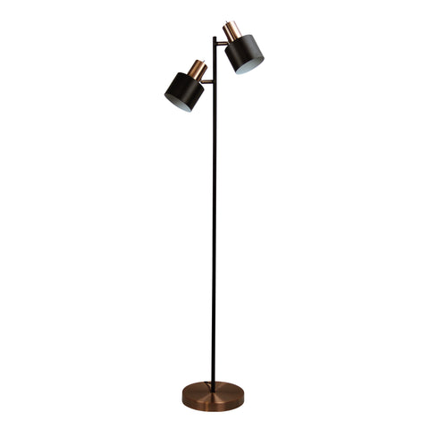 FLOOR LAMP | Ari Twin Copper by Oriel Lighting