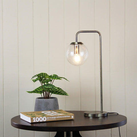 TABLE LAMP | Newton Antique Brass by Oriel Lighting