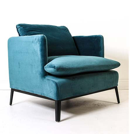OCCASIONAL CHAIR | lewis in atlantic velvet