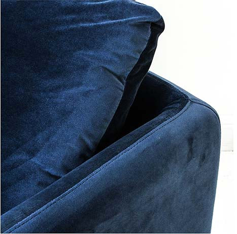 OCCASIONAL CHAIR | lewis in navy velvet