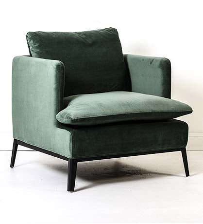 OCCASIONAL CHAIR | lewis in pine velvet