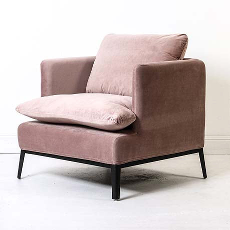 OCCASIONAL CHAIR | lewis in rose dust velvet