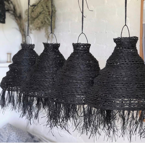 PENDANT | Handmade Sorrento Shade with Tassels by The Paper Mills Studio