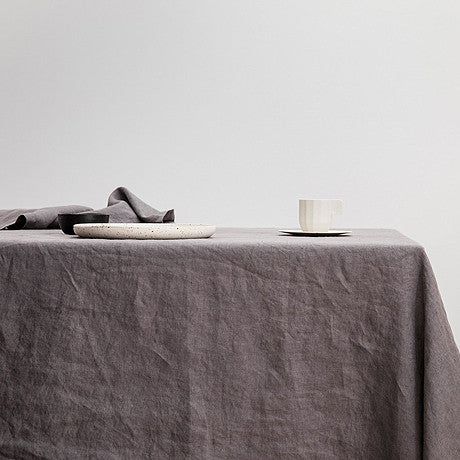 TABLE CLOTH | Charcoal Grey Linen By Cultiver