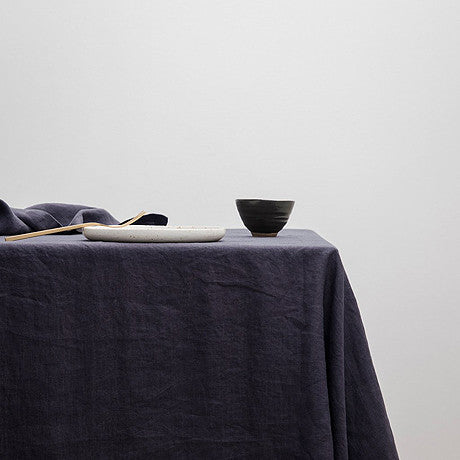 TABLE CLOTH | Navy Linen By Cultiver