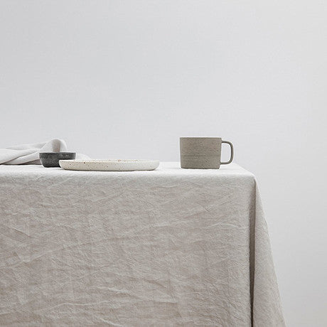 TABLE CLOTH | smoke grey linen by Cultiver