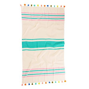 BEACH TOWEL | Tropez Candy Turkish by Miss April Towels