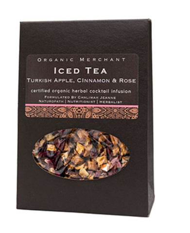 TEA | Turkish Apple Cinnamon & Rose Iced Tea by Organic Merchant