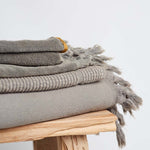 TOWEL | Vintage Wash Bath Sheet Olive by Saarde