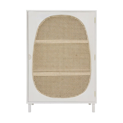 CABINET | Retro Webbing Single Door White by HK Living