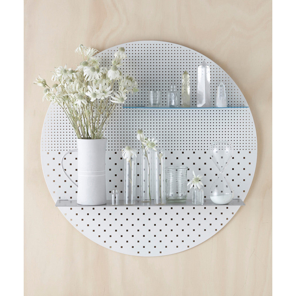 Great SHELF | White Mesh Circle By Bride + Wolfe Great Ideas
