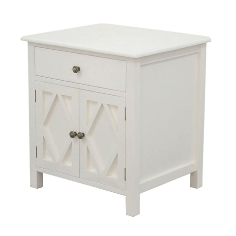 SIDE TABLE | White |  Small Cabinet by Henry & Oliver Co