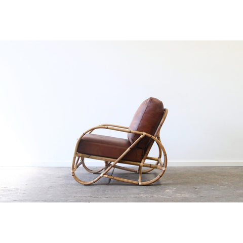 OCCASIONAL CHAIR | Pretzel Design with Whiskey Leather by Lincoln Brooks