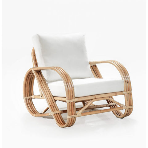 OCCASIONAL CHAIR | Pretzel Design with White Cotton Cushion by Lincoln Brooks