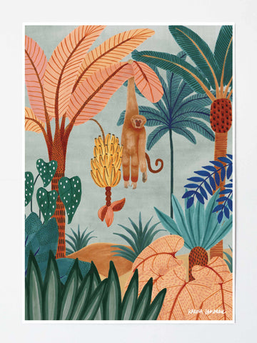 ART PRINT | Banana Palm Days by Karina Jambrak