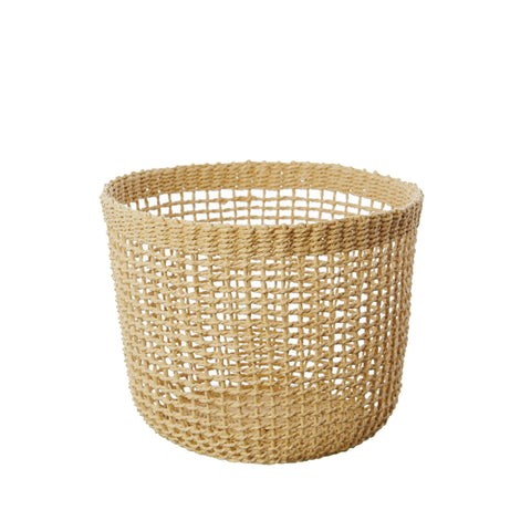 BASKET | goldie woven paper basket by milk + sugar