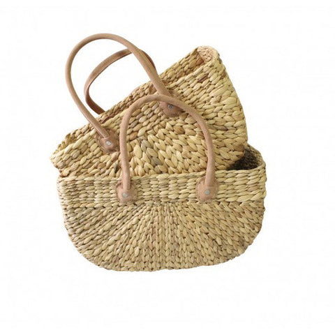 BASKET | harvest with leather handles by robert gordon