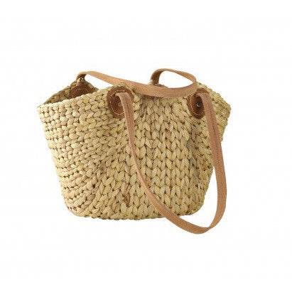BASKET | market lane with suede handles by robert gordon