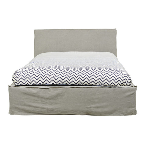 BED | Vittoria Slip Cover Bed in Washed Mink by Globewest