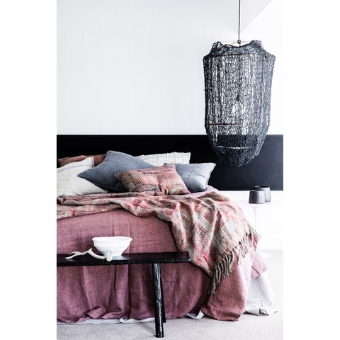 BED COVER | luca design in desert rose by eadie lifestyle