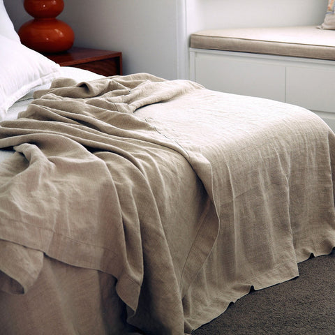 BED COVER | stonewashed linen in four colours by cultiver