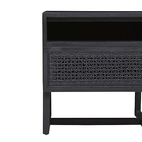 BEDSIDE | woven willow design in black by globewest