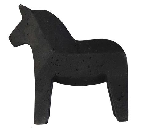 VESSEL | Dala Horse | Black & Natural by Zakkia