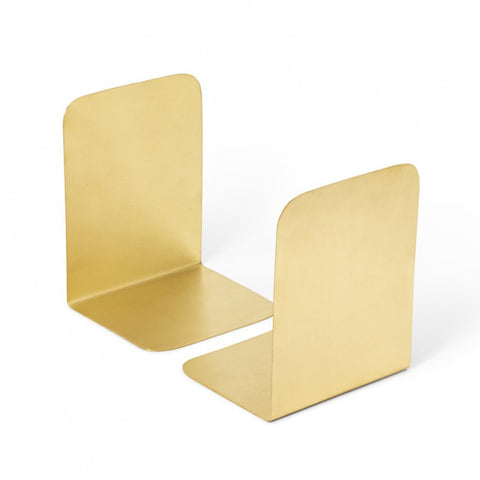 BOOK ENDS | brushed brass by Lightly