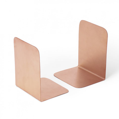 BOOK ENDS | brushed copper by Lightly