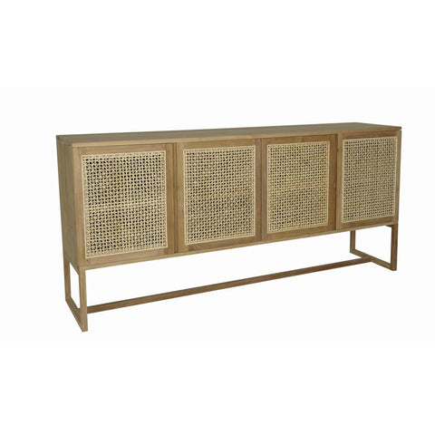 BUFFET | willow woven design in teak by globewest