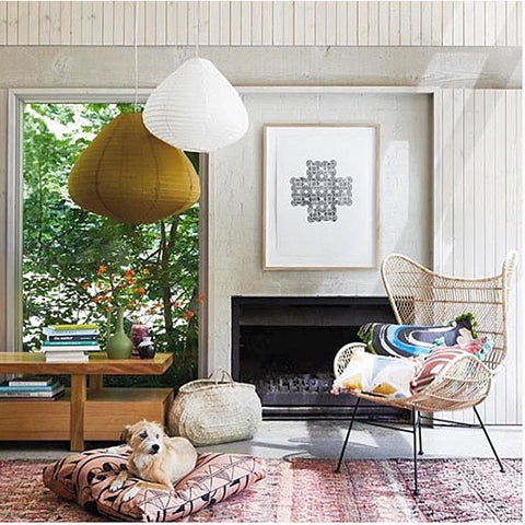 OCCASIONAL CHAIR | bohemian weave egg in rattan by hk living